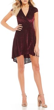 B. Darlin Burnout Velvet High-Low Dress