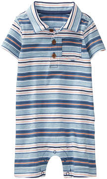 Gymboree Blue Stripe Polo Romper - Newborn & Infant
