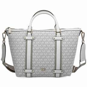Michael Kors Griffin Large Jacquard Satchel- Nat/ Light Cream - ONE COLOR - STYLE