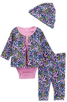 Offspring Wildflowers Reversible Jacket Set - 4-Piece Set (Baby Girls)
