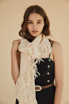 Urban Outfitters Patchwork Fringed Knit Scarf