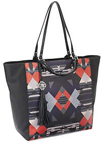 As Is Rafe Large Joey Coated Canvas Tote w/ Leather Trim