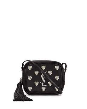 Saint Laurent Monogram Blogger Heart Crossbody Bag, Black - BLACK - STYLE