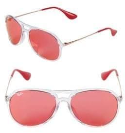Ray-Ban 59MM Round Aviator Sunglasses