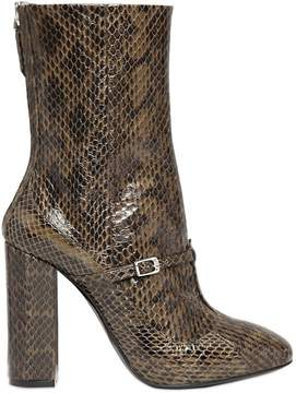 N°21 100mm Elaphe Snakeskin Ankle Boots