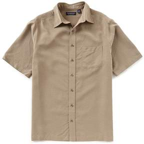 Roundtree & Yorke Big & Tall Short-Sleeve Shadow Check Sportshirt