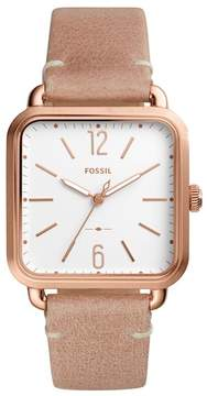 Fossil Women's Micah Leather Strap Watch, 32mm