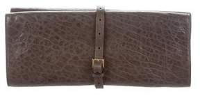 Rochas Leather Flap Clutch