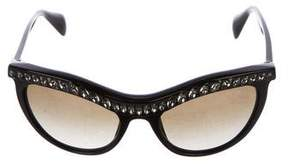 Prada Tinted Embellished Sunglasses