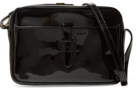Iris and Ink Linda Patent-Leather Shoulder Bag