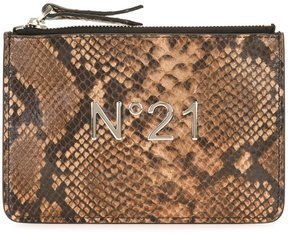 No21 snakeskin effect clutch