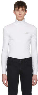 Raf Simons White Joy Division Substance Classic Turtleneck