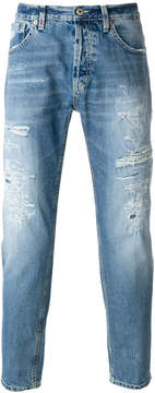 Dondup ripped straight-leg jeans