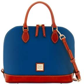 Dooney & Bourke Pebble Grain Zip Zip Satchel - OCEAN - STYLE