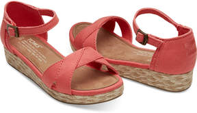 Toms Coral Cotton Twill Sandals