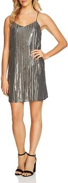 Cynthia Steffe CeCe by Mia Striped Sequin Dress
