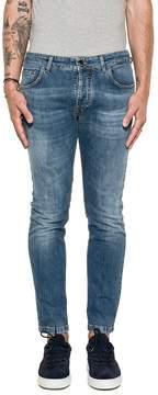 Entre Amis Blue Denim Cropped Jeans
