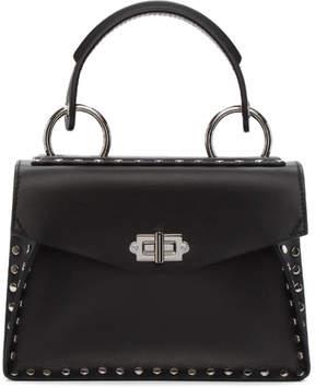 Proenza Schouler Black Small Studded Hava Top Handle Bag