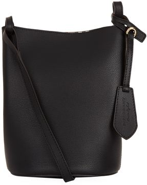 Burberry Small Lorne Leather Bucket Bag - BLACK - STYLE