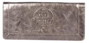 Tory Burch Metallic Leather Wallet