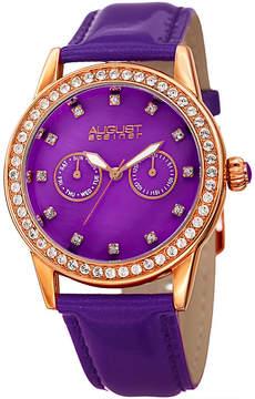 August Steiner Womens Purple Strap Watch-As-8234pu