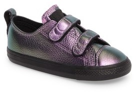 Converse Infant Girl's Chuck Taylor All Star Iridescent Leather Low Top Sneaker