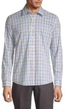 Hyden Yoo Checkered Cotton Button-Down Shirt