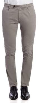 Berwich Men's Grey Cotton Pants.