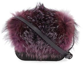 Brunello Cucinelli Fox Fur and Monili Mini City Bag