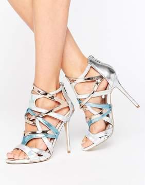 Carvela Gum Metallic Multi Strap Heeled Sandals