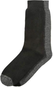 Joe Fresh Men's 2 Pack Thermal Socks, JF Black (Size 10-13)