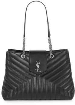 Saint Laurent Lou Lou Large Leather Shopping Bag
