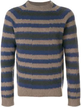 Boglioli striped crew neck pullover