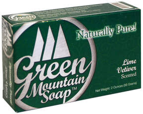 Lime Vetiver Wash Soap by Green Mountain Soap (2oz Bar)