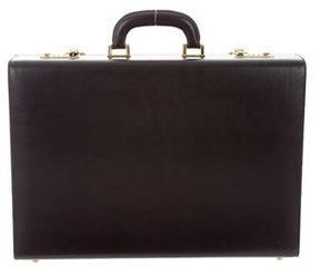 Bottega Veneta Leather Gold-Tone Briefcase