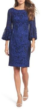 Eliza J Women's Bell Sleeve Lace Sheath Dress
