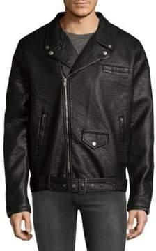 Members Only Pebblie Biker Jacket