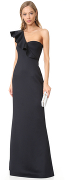 Black Halo Carmel Gown