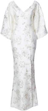 Christian Siriano long tone-on-tone gown