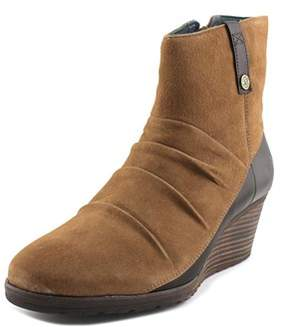 The North Face Bridgeton Wedge Zip Women Round Toe Suede Brown Ankle Boot.
