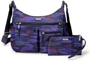 Baggallini Anywhere Camo Large Hobo Bag with RFID Wristlet