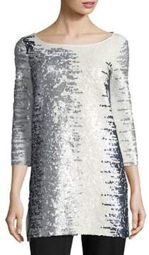 Joan Vass Sequin Cotton Tunic