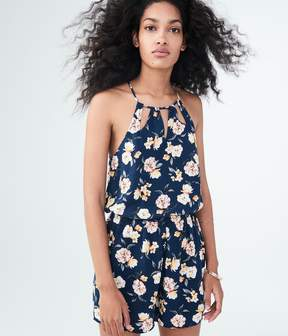 Aeropostale Floral High-Neck Romper