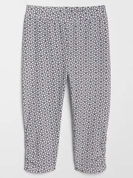 Gap Print Shirred Crop Leggings