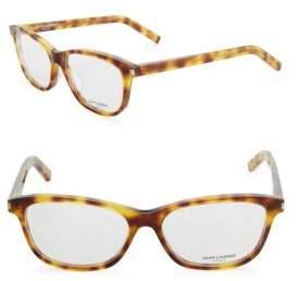 Saint Laurent 54MM Rectangular Eyeglasses