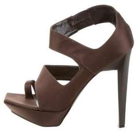 Jil Sander Multistrap Platform Sandals