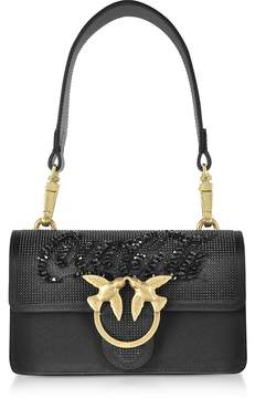 Pinko Black Mini Love Paprika Shoulder Bag