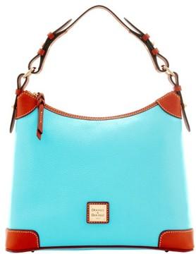Dooney & Bourke Pebble Grain Hobo Shoulder Bag - LIGHT BLUE - STYLE