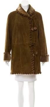 Neiman Marcus Short Shearling Coat