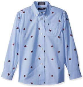 Izod Dragonfly Blue Lobster Button-Up - Boys